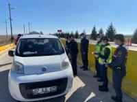 Jandarma Komutanı Atasoy trafik denetimine katıldı