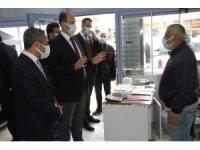 Bismil Kaymakamı Türkmen, korona virüs denetimlerine katıldı