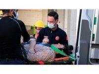 Yüksekten düşerek yaralanan inşaat işçisi hastaneye kaldırıldı