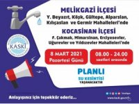 KASKİ, 11 mahallede su kesintisi yapacak