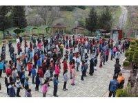 Deprem haftası nedeniyle öğrencilere eğitim verildi