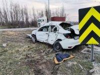 İnönü'de trafik kazası, 1 ölü 1 yaralı