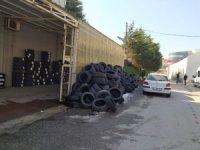 İzmit Belediyesi atık lastikleri geri dönüştürüyor