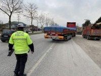 Yük taşımacılığı yapılan araçlara polis denetimi