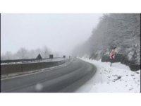 Bolu Dağı'nda kar yağışı başladı