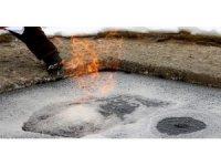 Erzurum'daki yanan su görenleri şaşkına çeviriyor