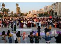 Adana'da kadınlardan yürüyüş