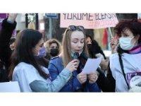 """Falçata ile yüzü kesilen Ukraynalı Anna: """"Kadınların böyle birlik olması çok iyi"""""""