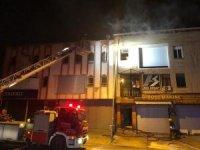 Ankara'da mobilya atölyesinde yangın çıktı