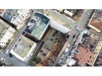 Çekmeköy'de iki kardeşin ölü bulunduğu inşaat alanı havadan görüntülendi