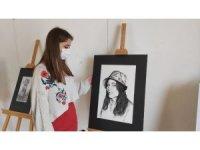 Genç ressamın sergisi ilgi gördü