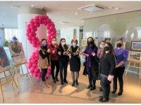 Hastanede kadınlardan özel sergi