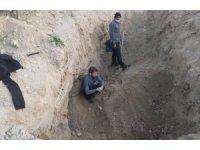 Manisa'da kaçak kazıya suçüstü