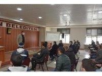 Belediye personeline ilk yardım eğitimi verildi