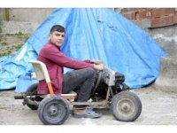 Giresun'da 16 yaşındaki genç hurda parçalardan ve jeneratör motorundan 4 tekerlekli araç yaptı