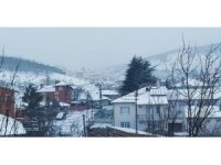 Bilecik'te nisan ayında kar yağışı şaşkınlık yaşattı