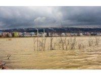 Kura Nehri taştı, tarım arazileri sular altında kaldı