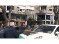 Bağdat Caddesinde bunalıma giren genç kadın sürücülere zor anlar yaşattı