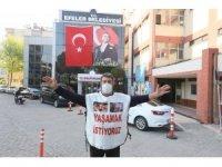 Efeler belediyesi sokak hayvanları için yürüyen İğdigül'ü ağırladı