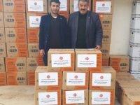Sarıveliler'de 150 aileye yardım kolisi