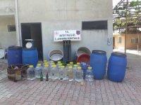 Defne'de 745 litre sahte içki ele geçirildi