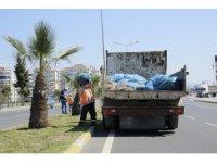 Nazilli karayolunda yaz temizliği başladı