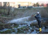 Bitlis'te ilaçlama çalışmaları devam ediyor