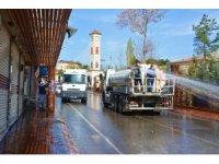 Ergani'de cadde ve sokaklar tazyikli suyla yıkandı