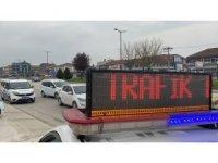 Boş sokaklarda hız yapanlar radara takıldı