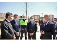 Vali Davut Gül ve Fadıloğlu trafik parkının son durumunu inceledi