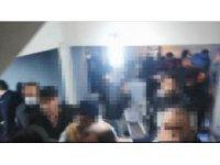 Villada tombala partisine polis baskını