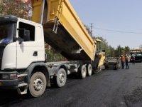Şanlıurfa'da asfalt yol çalışması devam ediyor
