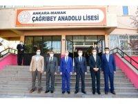 Mamak Belediyesi'nden öğrencilere online (çevrimiçi) sınav desteği ve ziyaret