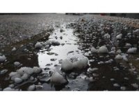 Göle'ye ceviz büyüklüğünde dolu yağdı