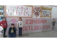 Bin 300 bisküviyle '23 Nisan Kutlu Olsun' yazdılar