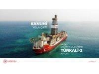 Kanuni Sondaj Gemimiz ilk görevi için Türkali kuyusuna doğru yola çıktı