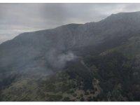 Manisa Spil Dağı Milli Parkında orman yangını