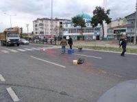 Samsun'da kamyonet ile elektrikli bisiklet çarpıştı: 1 yaralı