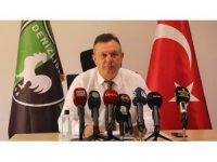 """3 yıllık bilançoyu açıklayan Başkan Ali Çetin: """"Biz başaramadık"""""""