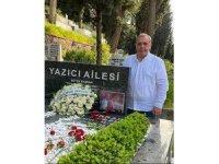 Bursaspor Başkanı Erkan Kamat, İbrahim Yazıcı'nın kabrini ziyaret etti