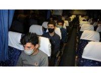 Samsun'da yolcu otobüsünde 25 kaçak göçmen ele geçti