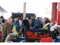 Siirt'te açılan semt pazarında kurallar hiçe sayıldı
