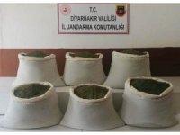 Diyarbakır'da çalıların arasında 201 kilogram esrar ele geçirildi