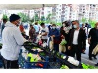 Milletvekili Tüfenkci ve Başkan Çınar'dan semt pazarı ziyareti