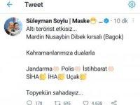 Bakan Soylu sosyal medya hesabından duyurdu: Mardin'de 6 terörist etkisiz hale getirildi