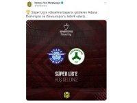 Yeni Malatyaspor'dan Süper Lig'in yeni ekiplerine tebrik