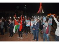 Tavşanlı halkı İsrail'i protesto için toplandı