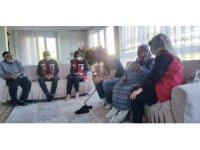 Özel bireyler ve aileleri evinde ziyaret edildi, talepleri dinlendi