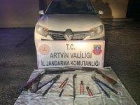 Artvin'de 13 hırsız 214 saatlik güvenlik kamerası incelenerek yakalandı