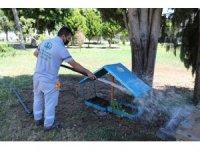 Mezitli'de hayvanların beslenme üniteleri temizlendi